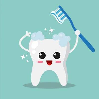 Избелващи ленти за зъби 2 -картинка на зъб