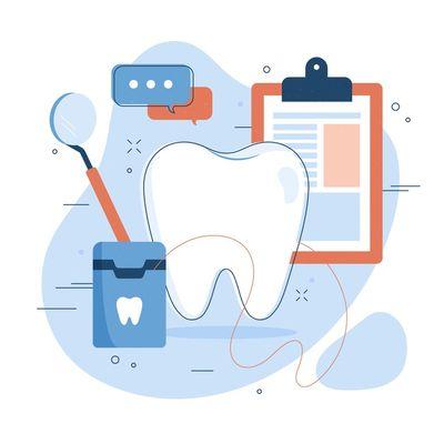 Почистване на зъбен камък 3 - картинка на зъб